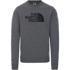 The North Face Drew Peak Suéter Cuello Redondo Hombre, TNF medium grey heather/TNF black